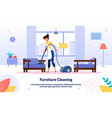 hotel room cleaning service flat banner vector image vector image