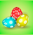 llustration of three easter eggs vector image