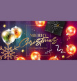 merry christmas card happy new year 2019 vector image vector image