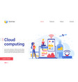 modern cloud computing technology landing page vector image