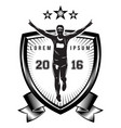 monochrome pattern on a sports theme for a vector image vector image