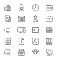 Office supplies thin icons vector image vector image