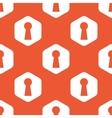 Orange hexagon keyhole pattern vector image vector image