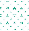 organisation icons pattern seamless white vector image vector image