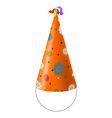 Party Hat with snowflakes vector image vector image