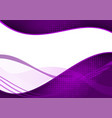 purple abstract wave abstract background modern vector image