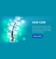 realistic detailed 3d hair care horizontal placard vector image vector image