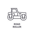 road roller line icon sign vector image vector image
