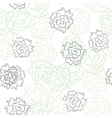 Romantic rose and peonies seamless pattern vector image vector image