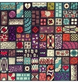 Seamless pattern with doodle frames Colored