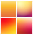 set of gradient backgrounds in warm colors vector image vector image