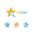 set of star logo combination leader and vector image vector image