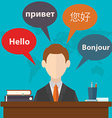 Synchronic translation services and international vector image vector image