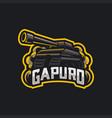 tank mascot esport logo vector image