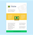 template layout for dollar comany profile annual vector image vector image
