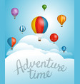 travel with balloons template for a text vector image