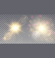 two yellow suns with bokeh vector image vector image