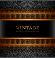 vintage background with gold borders vector image