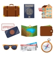 Visa application and vacation icons vector image vector image