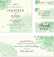 Wedding invite cards vector image vector image