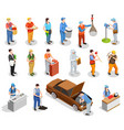worker professions isometric people vector image