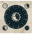 zodiac with the sun vector image vector image