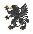 Heraldic griffin7 vector image