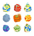 colorful planets of the solar system set for label vector image