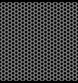 abstract gray black hexagon mesh pattern seamless vector image