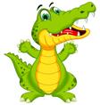funny crocodile cartoon posing vector image