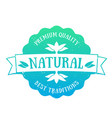 natural product emblem badge over white vector image