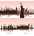 set of cityscapes vector image