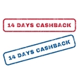 14 Days Cashback Rubber Stamps vector image vector image