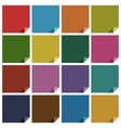 16 retro colored blank square vector image vector image