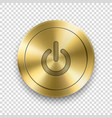 3d realistic metallic golden knob design