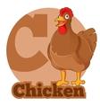 abc cartoon chicken vector image