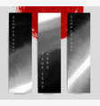 abstract black ink wash banners in asian style vector image