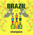 Abstract brazil and rio winners podium design with vector image vector image