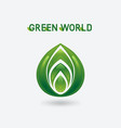 abstract green eco symbol vector image vector image