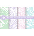 abstract marble pattern set backgrounds vector image vector image