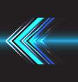 abstract technology blue arrow direction speed vector image vector image