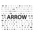 arrows collection with elegant style and vector image vector image