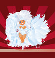 beautiful shining dancer on rio carnival vector image