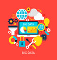 big data flat concept vector image vector image