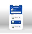 blue designers portfolio ui ux gui screen for vector image vector image