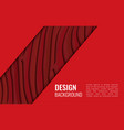 bright red horizontal abstract background a vector image vector image