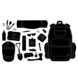 Camping set Black vector image vector image