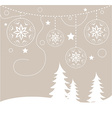 Chirstmas card background vector image vector image