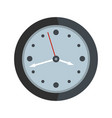 clock design icon flat style vector image vector image