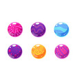 Collection of glossy balls colorful spheres user